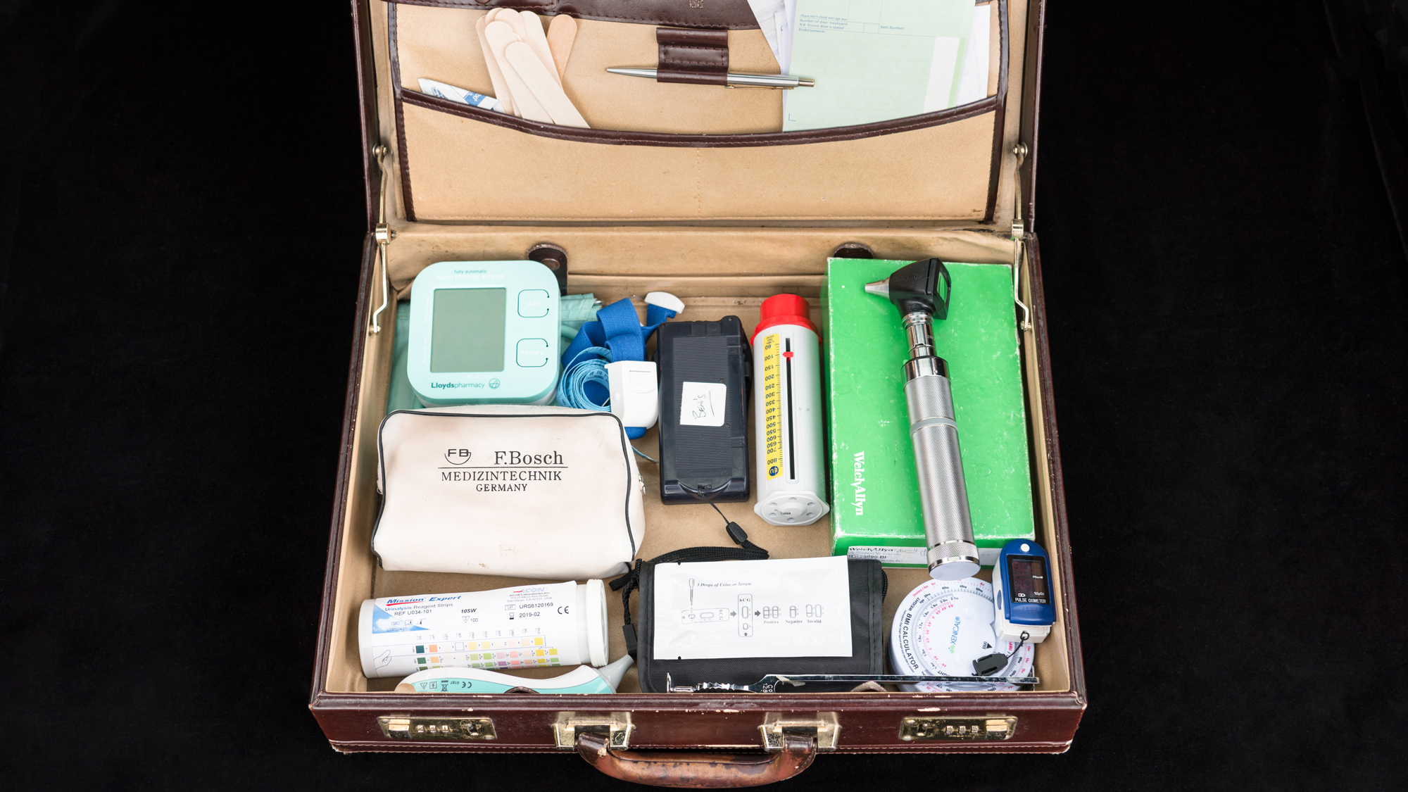 Ben's GP tools in a suitcase