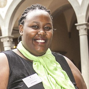 A photograph of the author, Grace Gatera.