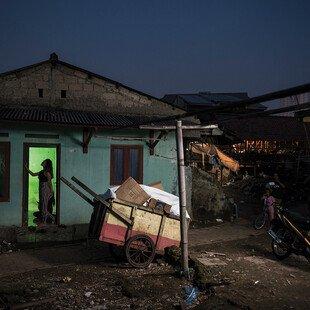 A slum area in Depok, West Java.