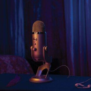A Blue Yeti microphone used by ASMR artist MonicaSpicciani.