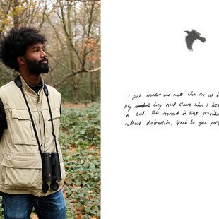 Nadeem Perera, founder of birdwatching group Flock Together, looks out into the trees.
