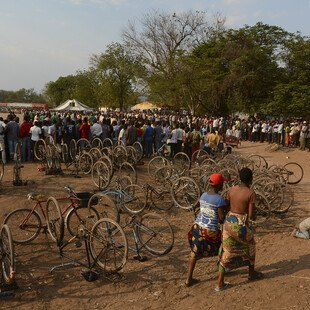 People gather for the festival