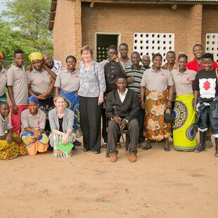 Group photo of the HIV-self testing team