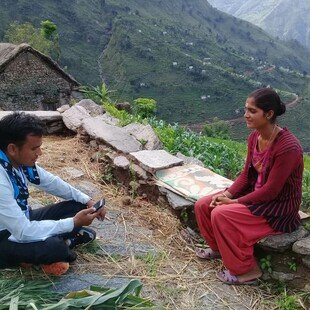 Face to face interview taking place in Nepal as part of the Gallup World Poll 2018.