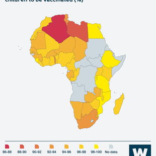 Graphic showing Share of people who agree that it is important for children to be vaccinated in Africa (%)