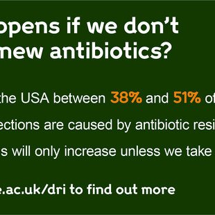 Infographic about what may happen in the USA if we don't develop new antibiotics