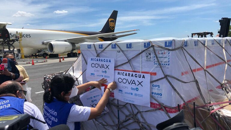 COVAX-supported Covid-19 vaccines arriving in Nicaragua in March 2021
