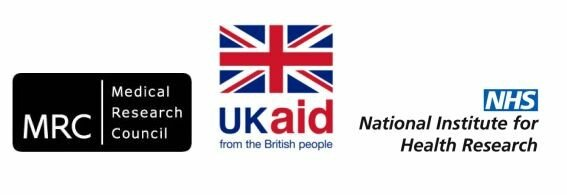 MRC, UKaid and National Institute for Heath Research logos