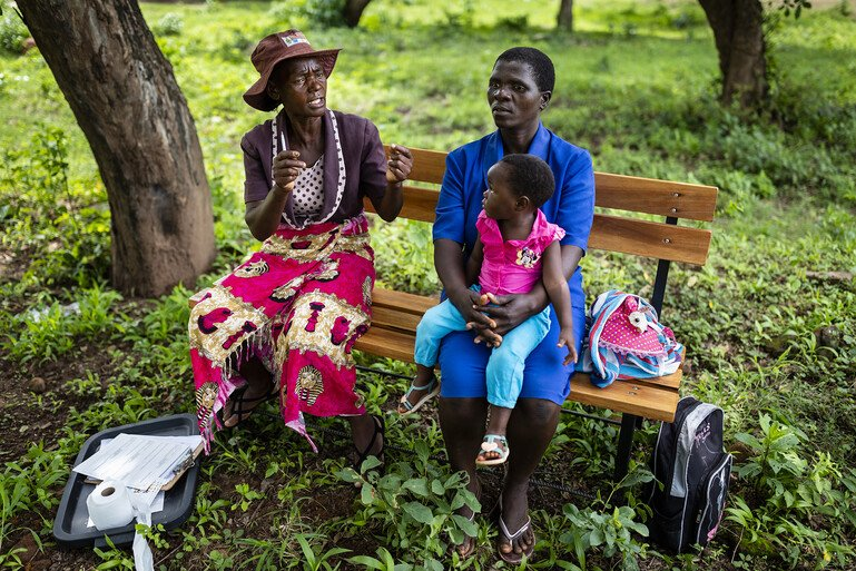 Friendship Bench by Brent Stirton, Zimbabwe