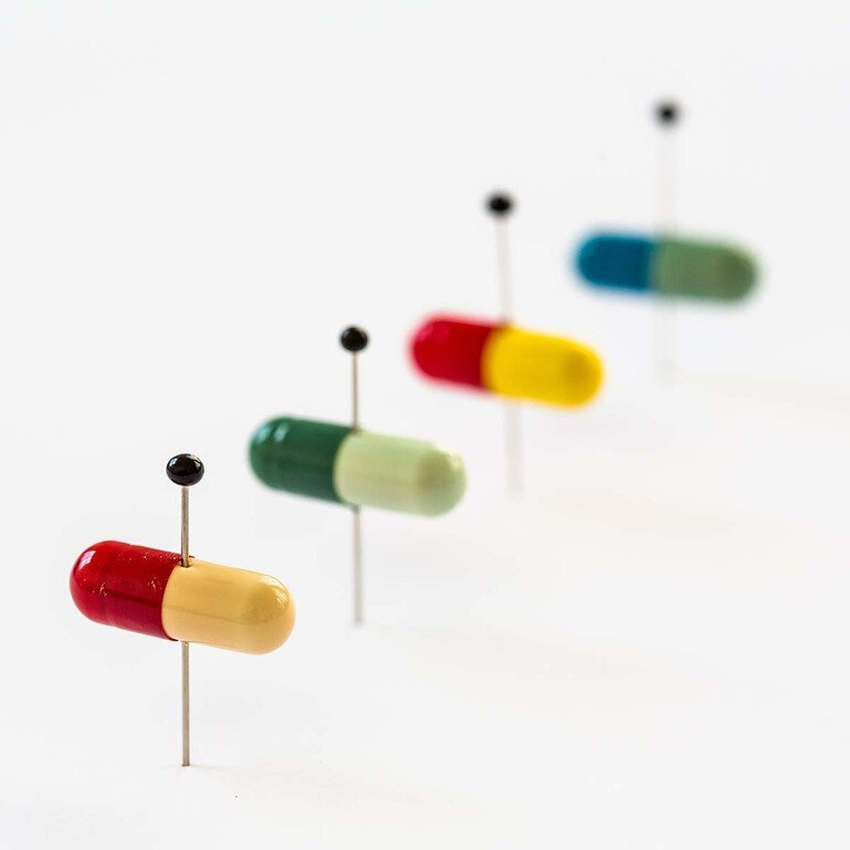 Medicines and pins