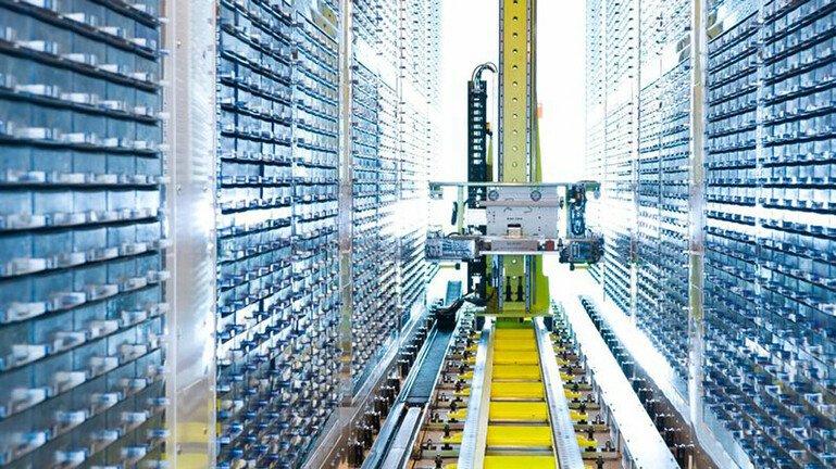 A storage freezer at UK Biobank for biological samples