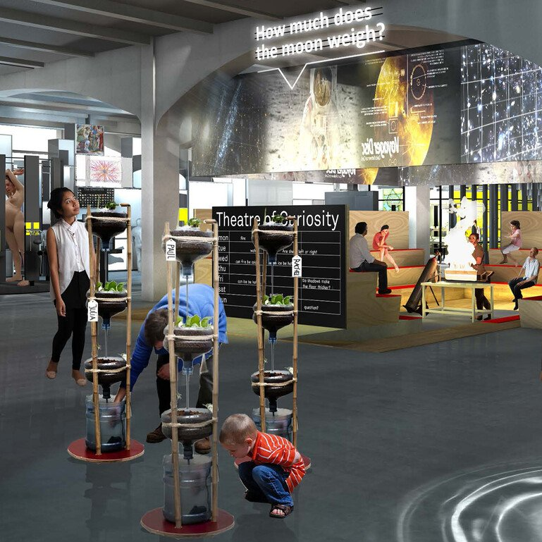 Artist's impression of Bristol's revamped science centre, We The Curious