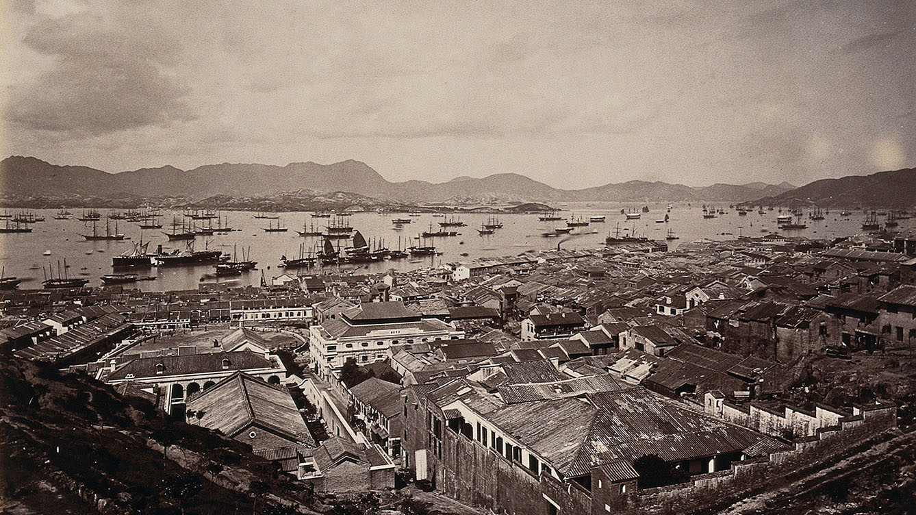 The Chinese town, West Point, Hong Kong. Photograph.